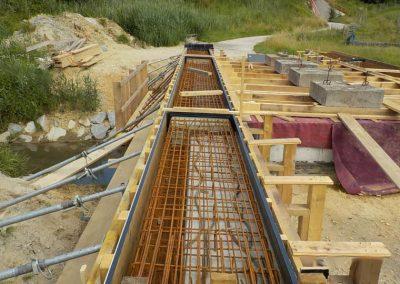 Nahaufnahme Brückenbau, Breiteneicher GmbH, Vilsbiburg aus einem anderen Blickwinkel