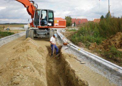 Strassenbauarbeiteb der Firma Breiteneicher GmbH