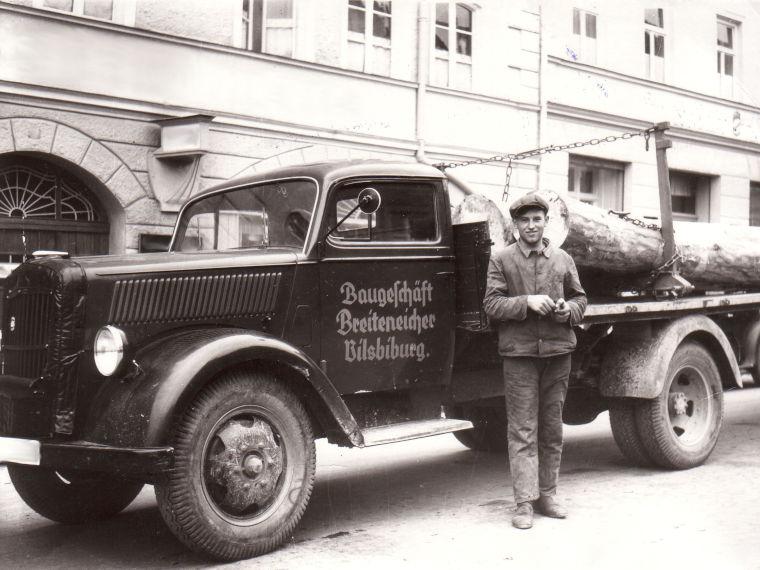 Erster Laster der Firma Breiteneicher