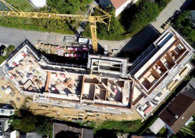 Wohnanlagenbau der Breiteneicher GmbH, Vilsbiburg aus der Vogelperspektive
