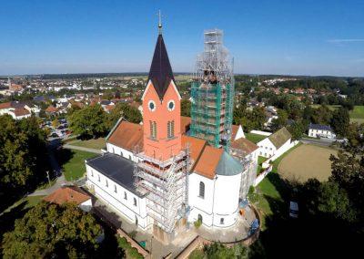 Kirchensanierung durch die Breiteneicher GmbH, Vilsbiburg