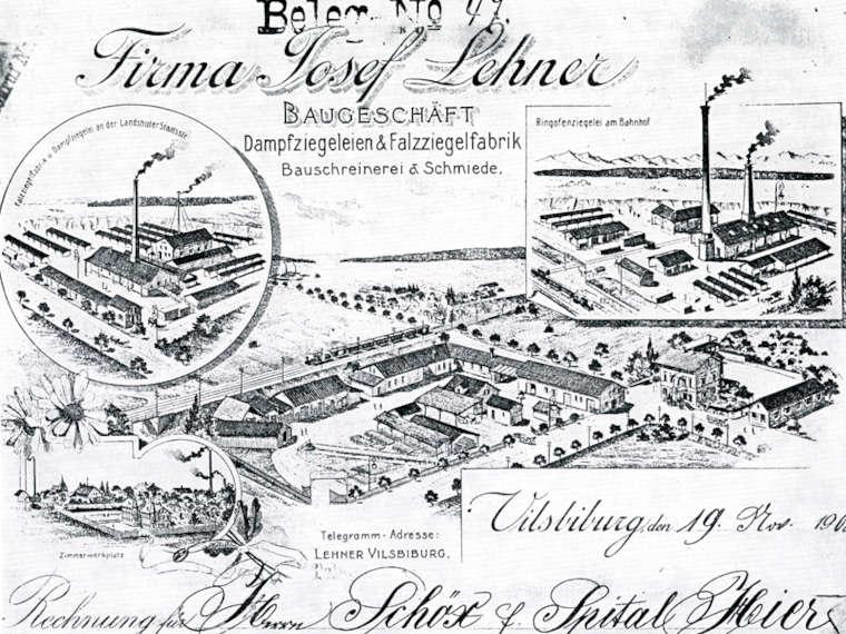 Gründung des ersten Baugeschäfts durch Herrn Josef Lehner