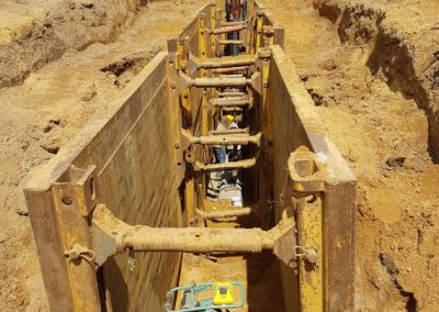 Kanalbauarbeiten durch die Breiteneicher GmbH, Vilsbiburg