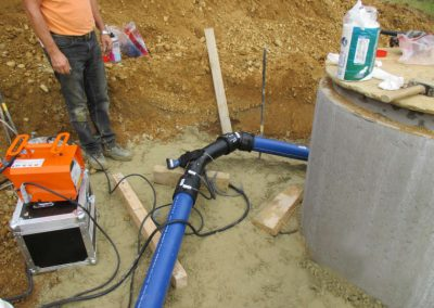 Mitarbeiter der Breiteneicher GmbH, Vilsbiburg beim Wasserleitungs- und Rohrleitungsbau